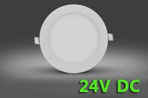 LED 24V Round Flat Panel Potlight